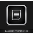 File icon silver metal vector