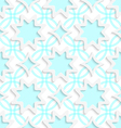 White snowflakes and white rhombuses on flat blue vector