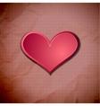 Heart on old crumpled card vector