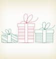 Set of christmas gifts sketches for design vector