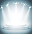 Illuminated stage podium award ceremony vector
