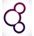 Abstract circles banner vector