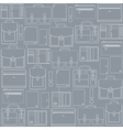 Seamless pattern with leather goods vector