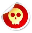 Skull round sticker vector