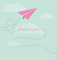 Paper plane as freelancer vector
