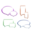 Set of glossy speech bubbles vector