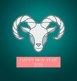 The goat is a symbol of 2015 vector