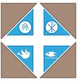 Religius symbols vector