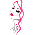 Pink beauty makeup icon vector