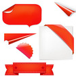 Red set vector