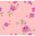 Seamless pink pattern with flowers vector