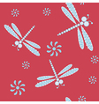 Seamless with dragonflies vector