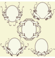 Ribbon frame border ornaments set 03 vector