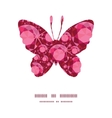 Ruby butterfly silhouette pattern frame vector