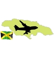 Fly me to the jamaica vector