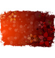 Abstract grunge flower background vector