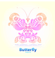 Abstract decorative butterfly vector