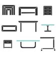 Modern tables set vector