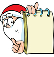 Santa claus with special offer - holding paper vector