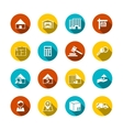 Real estate flat icons vector