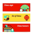 China banner set vector