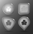Inkstand glass buttons vector