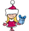 Santa claus girl cartoon vector