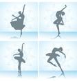 Set of ballet dancers silhouettes vector