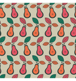 Vintage pear fruit pattern vector