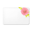 Green bow with rose and blank gift tags vector