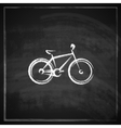Vintage with a bike on blackboard background vector