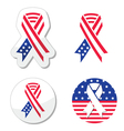 Usa ribbon flag - symbol of patriotism vector