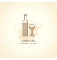 Wine list concept card vector