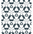 Dark monochrome color angular abstract geometric vector
