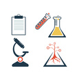 Lab icons set vector