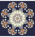 Ornamental geometric doily pattern vector