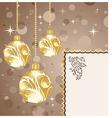 Christmas balls with card - vector