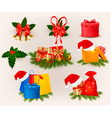 Set of christmas icons and elements vector