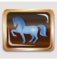 Blue horse vector