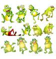 Set of frogs vector