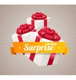 Gift box present card vector