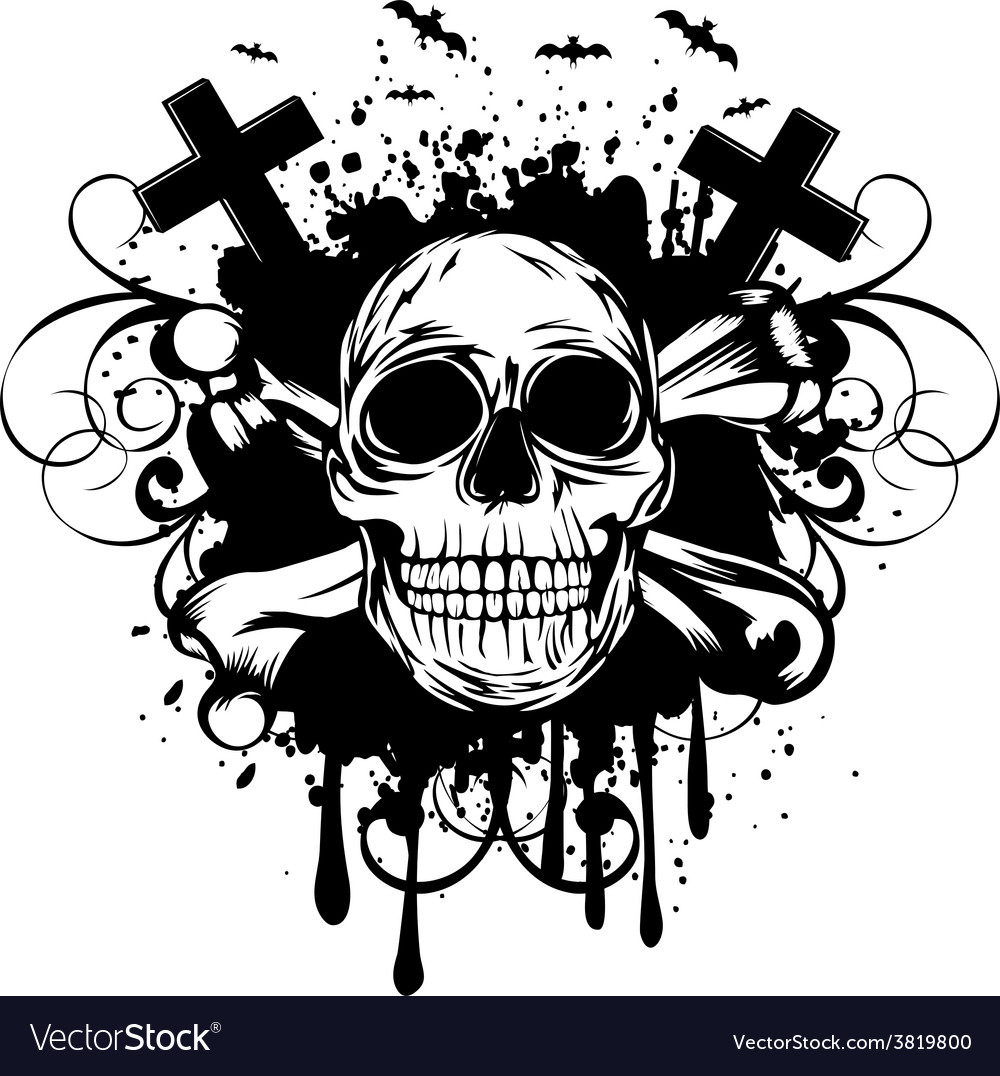 Abstract background skull and crossed bones vector | Price: 1 Credit (USD $1)