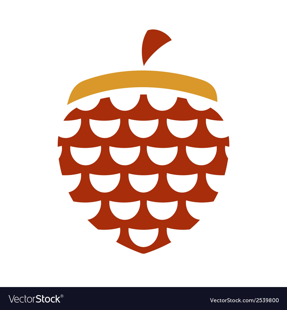 Acorn sign vector | Price: 1 Credit (USD $1)
