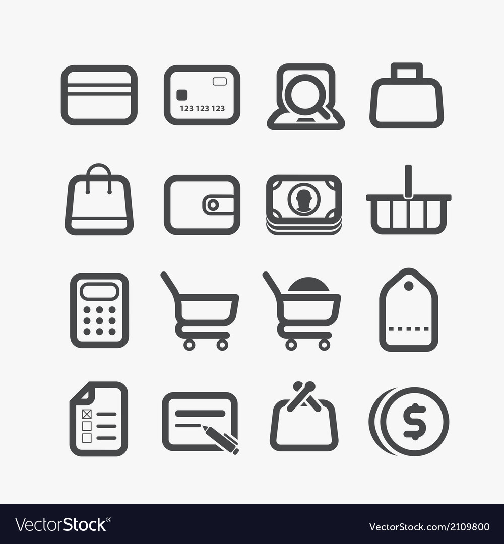 Different shopping icons set vector | Price: 1 Credit (USD $1)