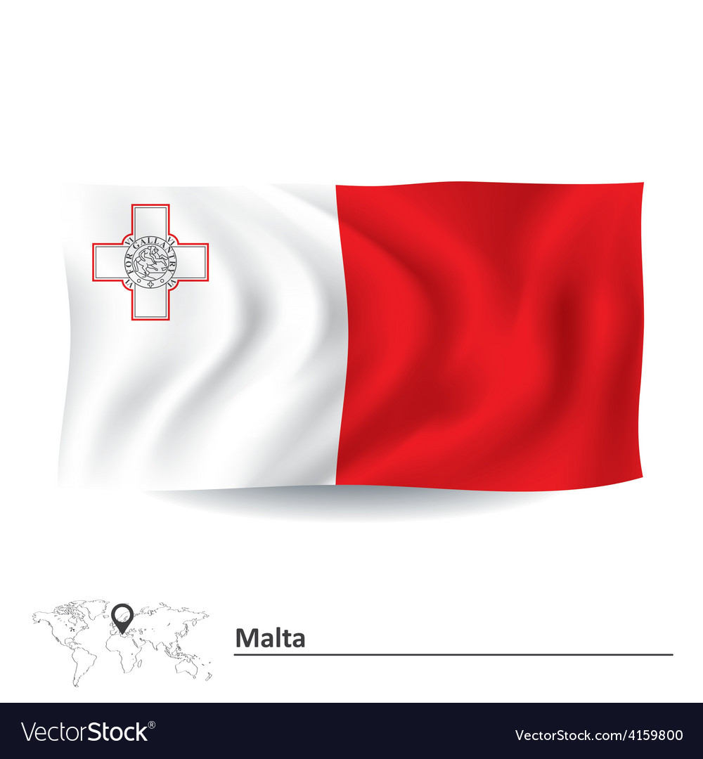 Flag of malta vector | Price: 1 Credit (USD $1)