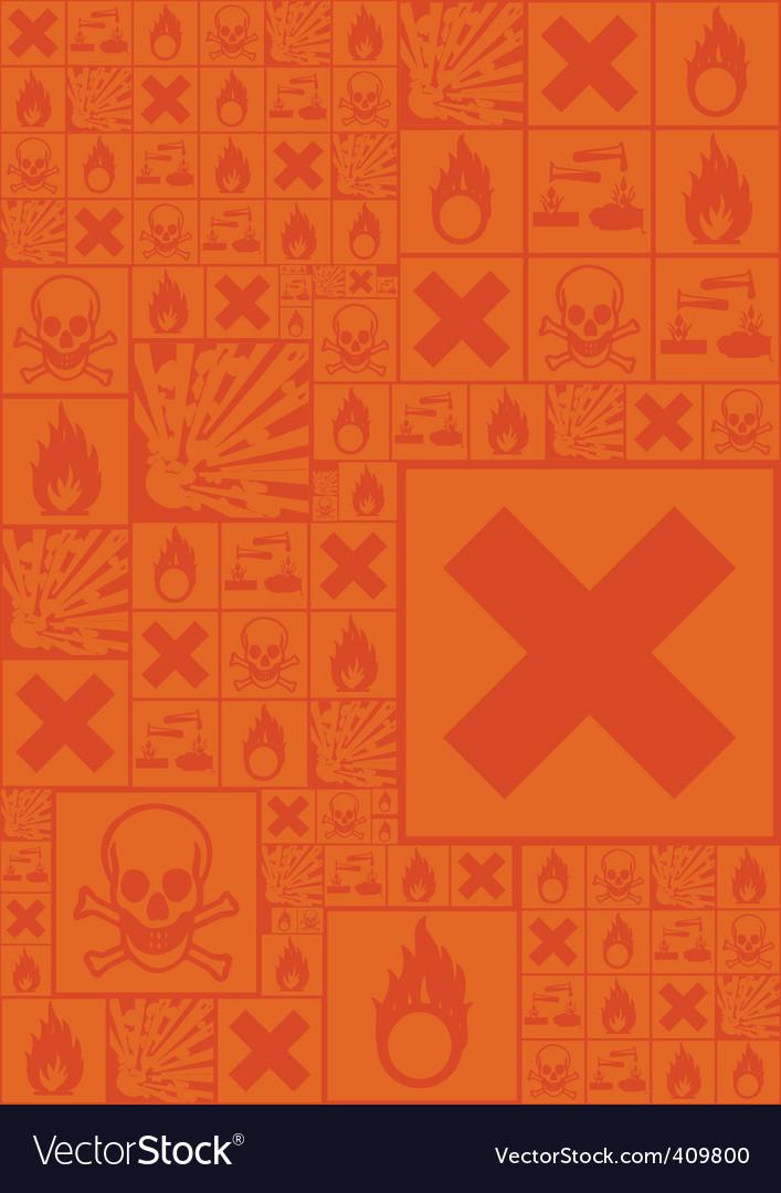 Hazardous symbols vector | Price: 1 Credit (USD $1)