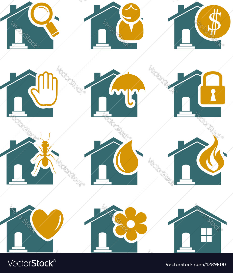 House security and service icons vector | Price:  Credit (USD $)