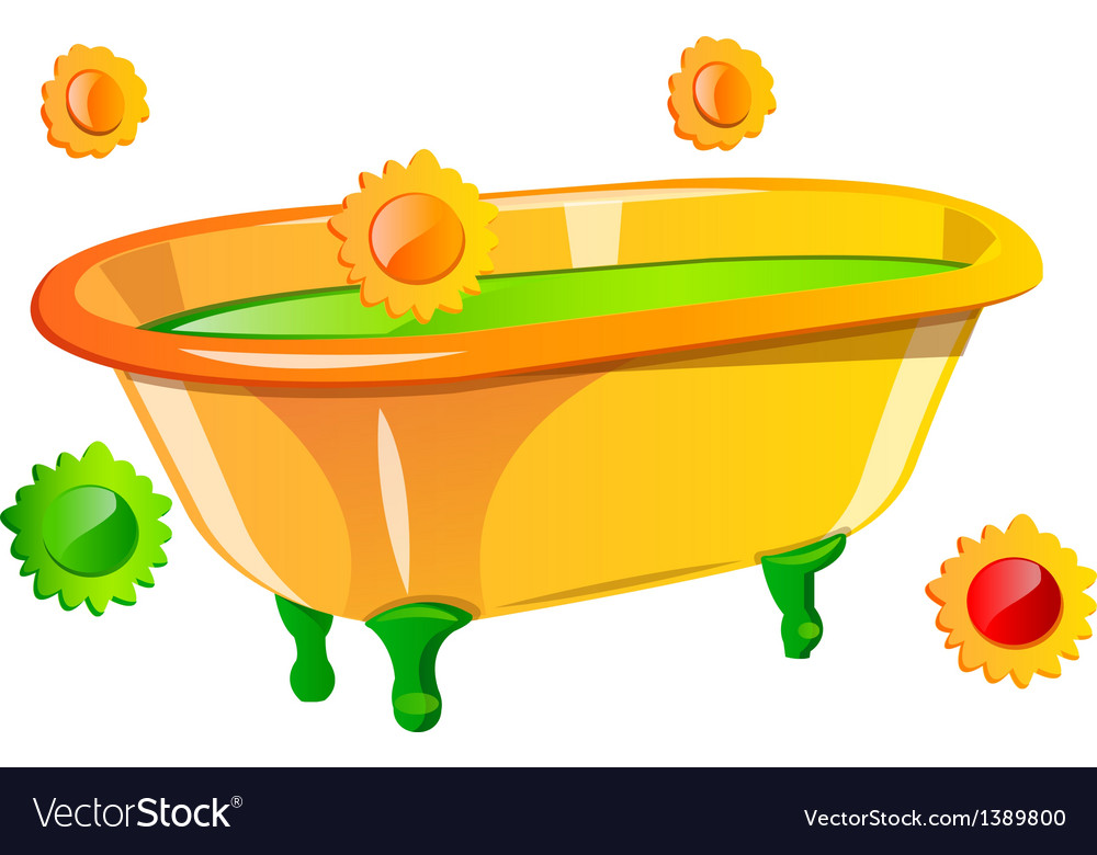 Icon bathtub vector | Price: 1 Credit (USD $1)