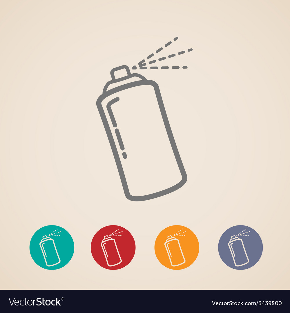 Set of aerosol spray can icons vector | Price: 1 Credit (USD $1)