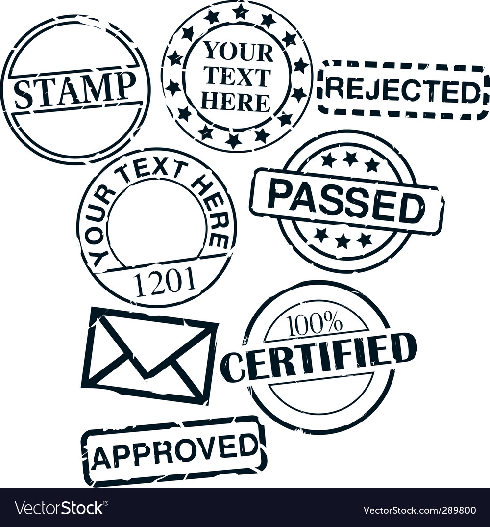 Set of stamps vector | Price: 1 Credit (USD $1)
